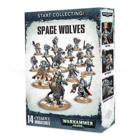 Games Workshop Warhammer 40,000 Imperium Adeptus Astartes Space Wolves Start Collecting Set