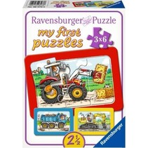 My first puzzles: Graafmachine, Tractor & Kiepwagen (3x6)
