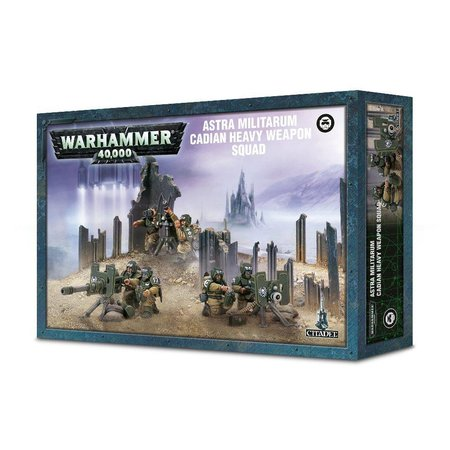 Games Workshop Warhammer 40,000 Imperium Astra Militarum: Cadian Heavy Weapon Squad