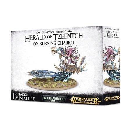 Games Workshop Age of Sigmar/Warhammer 40,000 Daemons of Tzeentch: Herald of Tzeentch on Burning Chariot