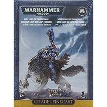 Warhammer 40,000 Imperium Adeptus Astartes Space Wolves: Wolf Lord on Thunderwolf