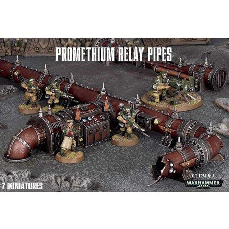 Games Workshop Warhammer 40,000 Terrain: Promethium Relay Pipelines