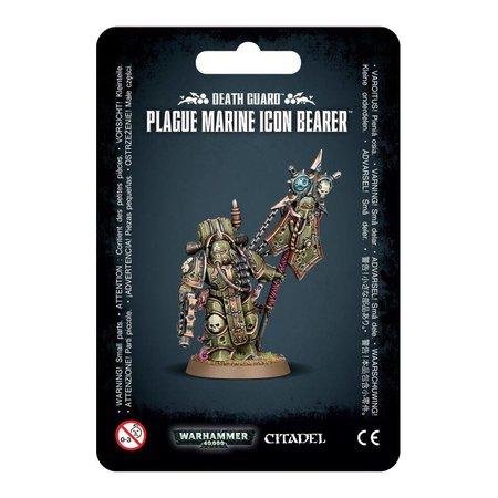 Games Workshop Warhammer 40,000 Chaos Heretic Astartes Death Guard: Plague Marine Icon Bearer