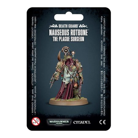 Games Workshop Warhammer 40,000 Chaos Heretic Astartes Death Guard: Nauseous Rotbone, the Plague Surgeon