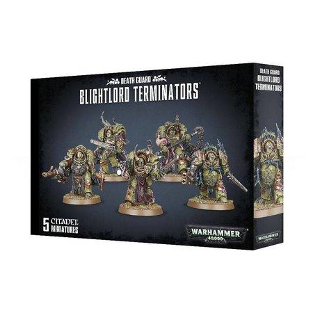 Games Workshop Warhammer 40,000 Chaos Heretic Astartes Death Guard: Blightlord Terminators