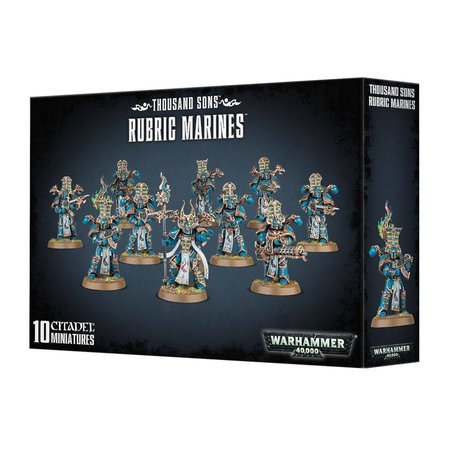 Games Workshop Warhammer 40,000 Chaos Heretic Astartes Thousand Sons: Rubric Marines