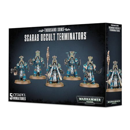 Games Workshop Warhammer 40,000 Chaos Heretic Astartes Thousand Sons: Scarab Occult Terminators