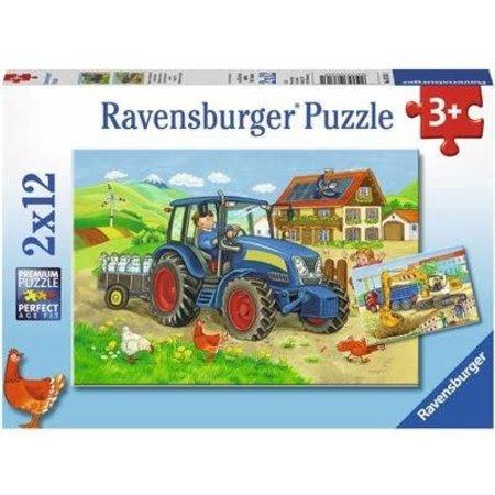 Ravensburger Op de Bouwplaats en Boerderij 2x12