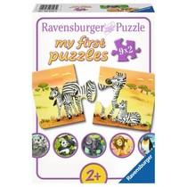 My first puzzles: Schattige Dierenfamilies (9x2)