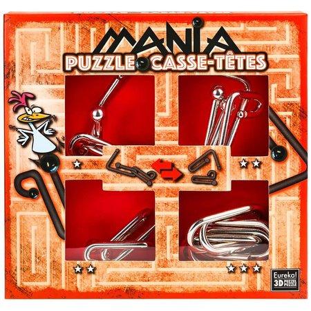 Eureka Puzzle Mania (Rood) metal puzzles (Casse-Tetes)