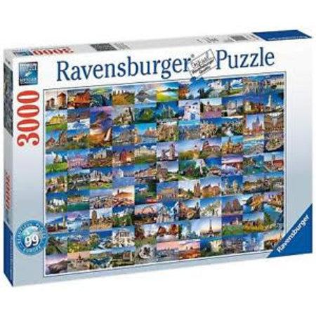 Ravensburger 99 Mooie plekken in Europa (3000)