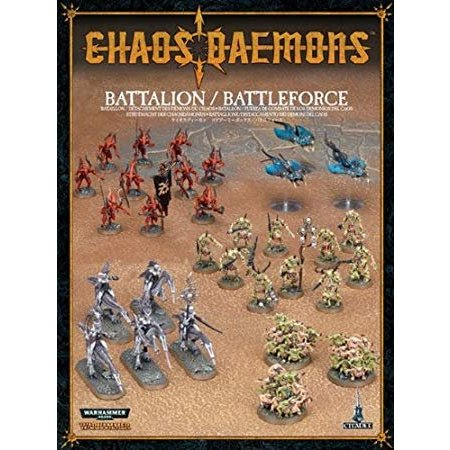Games Workshop Age of Sigmar/Warhammer 40,000 Daemons of Chaos: Chaos Daemons Battalion/Battleforce