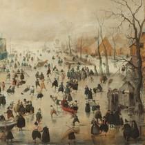 Winterlandschap met Schaatsers (210) uc