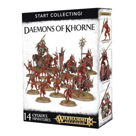 Games Workshop Age of Sigmar/Warhammer 40,000 Daemons of Khorne Start Collecting Set