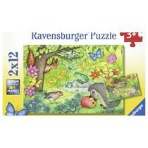 Dieren in onze tuin Puzzel 2x12