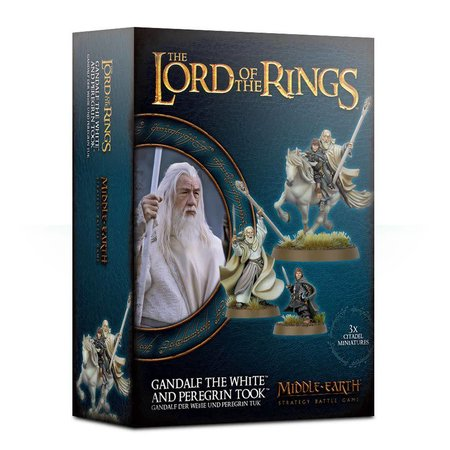 Games Workshop Middle-Earth SBG: Gandalf the White and Peregrin Took