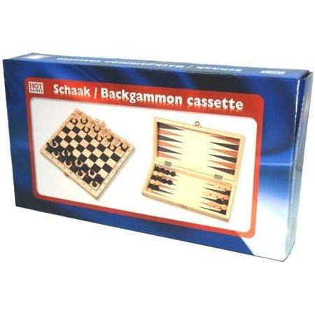 HOT games Schaak/Backgammon klapcass. 30mm/29cm