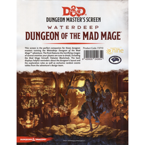 D&D 5.0: Dungeon of the Mad Mage GM screen