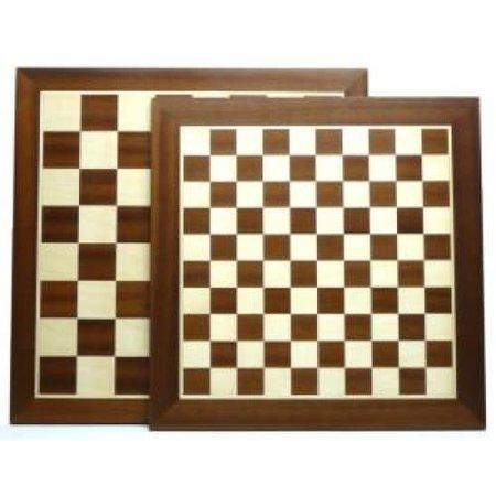 HOT games Schaak/Dambord Mahonie/Esdoorn 50/40mm/48cm