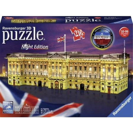 Ravensburger 3D Puzzle: Buckingham Palace, Night edition (216)