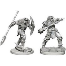 D&D Miniatures Unpainted: Dragonborn Fighter with Spear