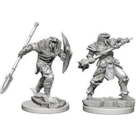 WizKids D&D Miniatures Unpainted: Dragonborn Fighter with Spear