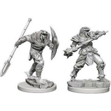 WizKids D&D Miniatures Unpainted: Dragonborn Fighter with Spear