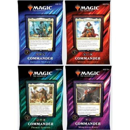 Wizards of the Coast MTG Commander 2019: Set van 4 decks