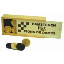 Damstenen Palmhout 32mm in kist
