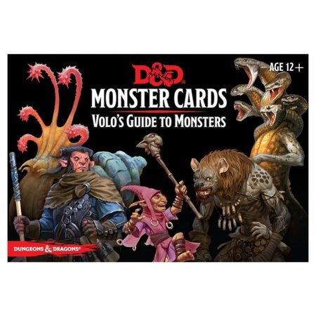 GaleForce Nine D&D Spellbook Cards Monster Cards Volo's Guide to Monsters