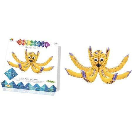 CreativaMente Creagami: Medium Octopus/Inktvis (Origami)