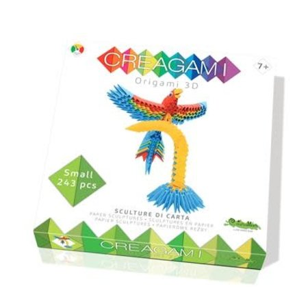 CreativaMente Creagami: Small Parrot/Papegaai (Origami)