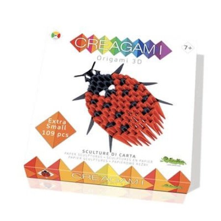 CreativaMente Creagami: Mini Ladybug/Lieveheersbeestje (Origami)