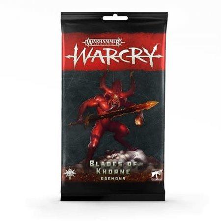 Games Workshop Warcry: Blades of Khorne Daemons Rule Cards