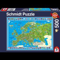 Schmidt Puzzle: Europa ontdekken (500)