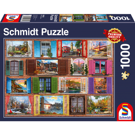 Schmidt Schmidt Puzzle: Raam open! (1000)
