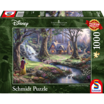 Disney snow white discovers the cottage  (1000)