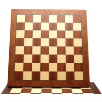 Schaakbord Mahonie/Esdoorn Diagonaal Ingelegd 55mm/52cm  Mt.6