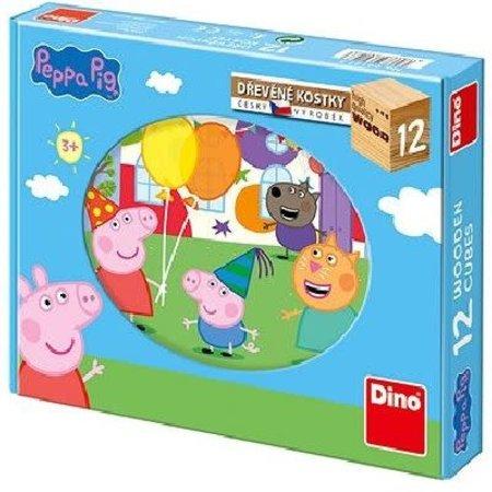 Dino Peppa Pig Houten blok puzzle 12 pcs