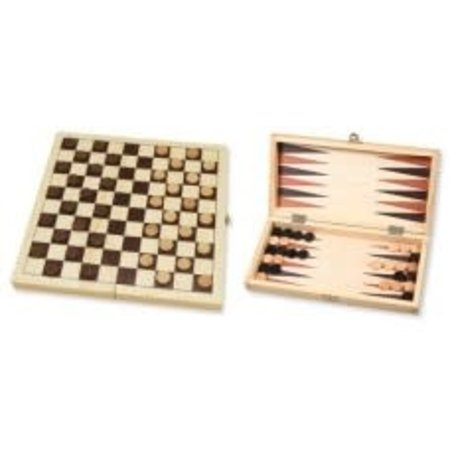 HOT games Dam/Backgammon Klapcassette 29cm