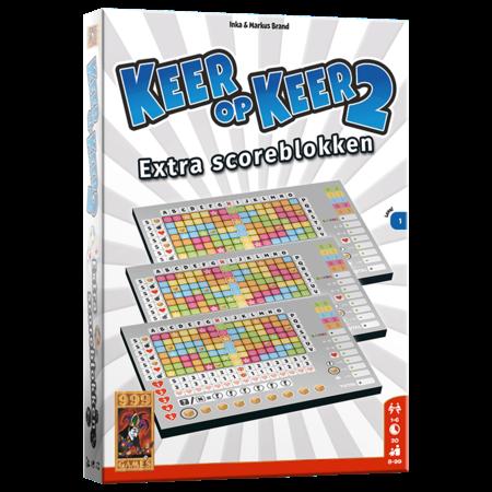 999-Games Keer op Keer 2 Scoreblok 3 stuks Level 1