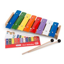 New Classic Toys - Metallofoon met Muziekboek - 8-toons