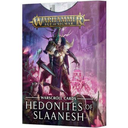 Games Workshop Warscroll Cards: Hedonites of Slaanesh (Eng)