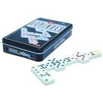 Domino dubbel 6 in blik gekleurd