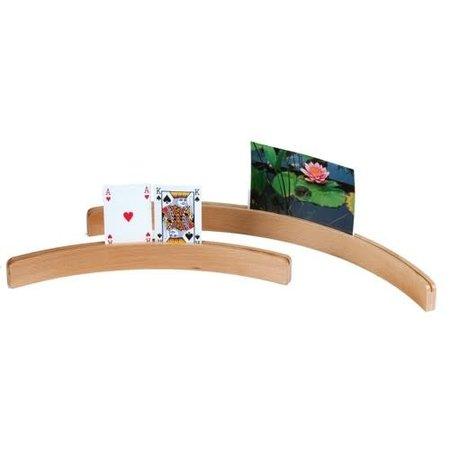 HOT games Kaarthouder Kaartlat hout tafelmodel, 50 cm gebogen lang multiplex