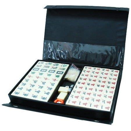HOT games Mah Jong Kunststof Stenen zwart vinyl koffer