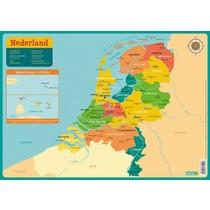 Educatieve onderleggers - Kaart Nederland