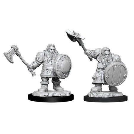 WizKids D&D Nolzur's Marvelous Miniatures Unpainted Miniatures Male Dwarf Fighter
