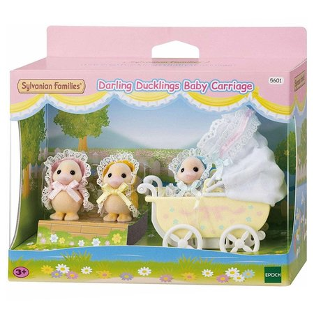 EPOCH Traumwiesen Sylvanian Families: Darling Ducklings Baby Carriage