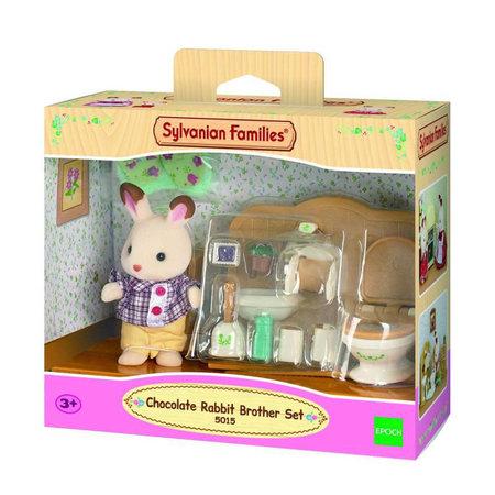 EPOCH Traumwiesen Sylvanian Families: Chocolate Rabbit Brother Set